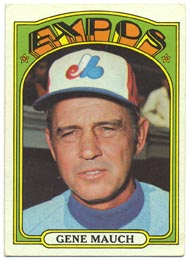 1972 Topps Baseball Cards      276     Gene Mauch MG